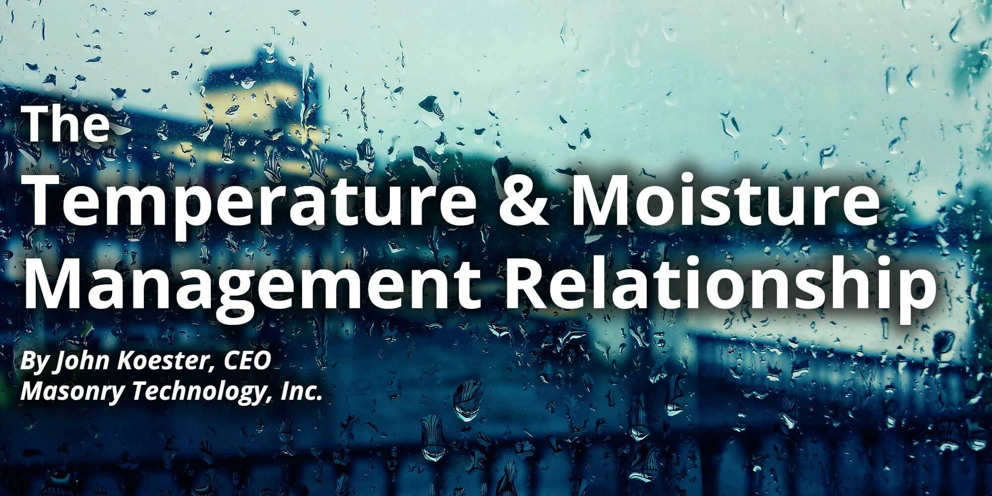 Temperature Moisture Management Title