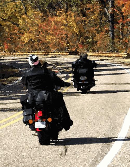 Motorcyclist rain