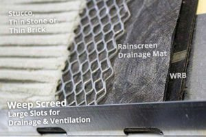 Rainscreen Compatible Weep Screed