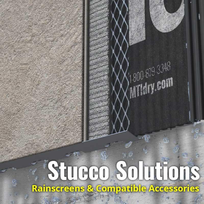 Stucco Solutions, Rainscreens & Compatible Accessories