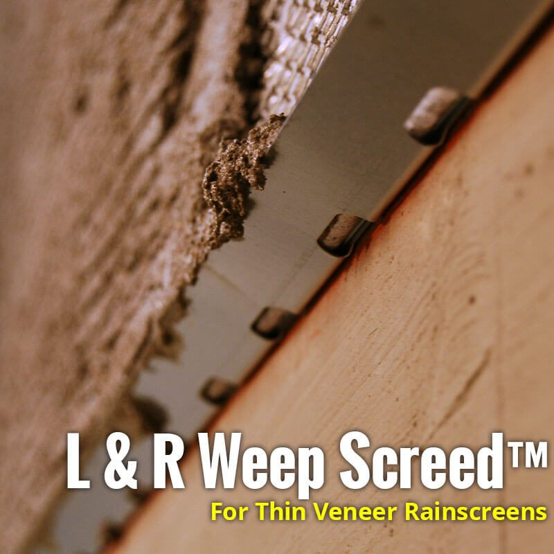 L&R Weep Screed for Thin Veneer Rainscreens